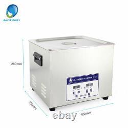 Skymen 15L Stainless Ultrasonic Cleaner Jewelry Dental Digital Timed Heater
