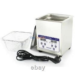 Stainless SteeI Industry Ultrasonic Cleaner Dental Digital Timed Heater 1.3-30L