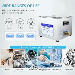 Stainless Steel 10L Liter Industry Heated Ultrasonic Cleaner Heater withTimer