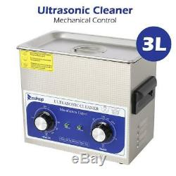 Stainless Steel 3L Liter Industry Heated Ultrasonic Cleaner Heater Durable Hot