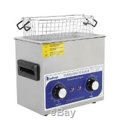 Stainless Steel 3L Liter Industry Heated Ultrasonic Cleaner Heater+Timer US