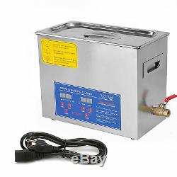 Stainless Steel 6 L Liter Industry Heated Ultrasonic Cleaner Heater withTimer