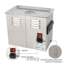 Stainless Steel Ultrasonic Cleaner 3L Liter Heated Heater withTimer Industry Labs