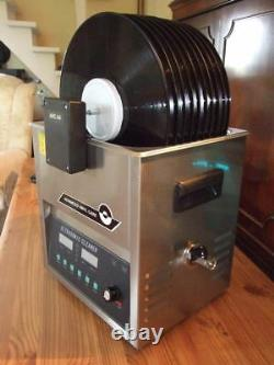 ULTRASONIC-RECORD-CLEANER-DIY adjustable power and variable frequency 10 records