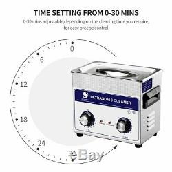 Ultrasonic 3.2L Cleaner Stainless Steel Ultra Sonic Tank Bath Cleaning Timer US