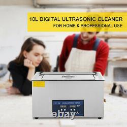 Ultrasonic Cleaner Dual Frequency 30L 22L 10L 6L 3L 2L 0.6L 28/40kHz Jewelry Lab