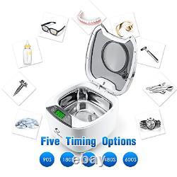 Ultrasonic Jewellery Cleaner LifeBasis 870ml Professional Ultrasonic Bath for