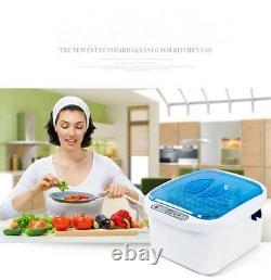 Ultrasonic Ozone Vegetable Fruit Sterilizer Cleaner Washer Health Home Use 12.8L