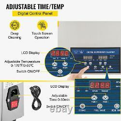 VEVOR 30L Ultrasonic Cleaner 28/40kHz Cleaning Equipment Industry Heater withTimer