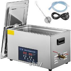 VEVOR 30L Ultrasonic Cleaner Stainless Steel 28kHZ/40kHZ Industry Heater withTimer