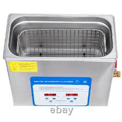 VEVOR 6L Ultrasonic Cleaner Industry Stainless Steel Lab Cleaner withTimer Heater