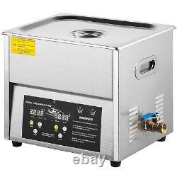 VEVOR Digital Ultrasonic Cleaner Ultrasonic Cleaning Machine 6L Stainless Steel