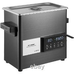 VEVOR Touch Ultrasonic Cleaner Ultrasonic Cleaning Machine 6L Stainless Steel