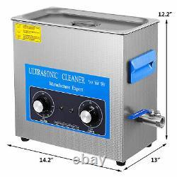 VEVOR Ultrasonic Cleaner Knob Jewelry Cleaner Heater withTimer 6L 10L 15L 22L 30L
