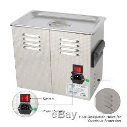 ZOKOP 110V Stainless Steel Industry Heated Ultrasonic Cleaner Heater Timer US