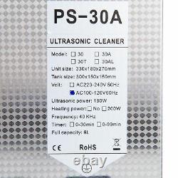 1.6gal Nettoyeur Ultrasonique Nettoyage Bijoux En Acier Inoxydable Er Chauffe-eau Propre 6l