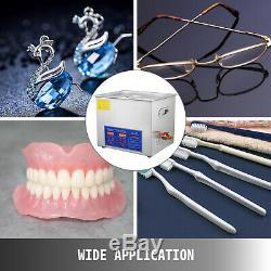 10 L Litres Industrie Chauffée Équipement Nettoyeurs À Ultrasons Nettoyage Bijoux Dentaires