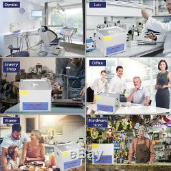 10 L Litres Industrie En Acier Inoxydable Nettoyeur Ultrasonique Chauffé Chauffe-withtimer Us