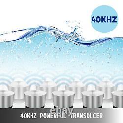 10l 10 L Nettoyeur Ultrasonique Chauffé 250w Nettoyage 4 Transducers Brossé Réservoir