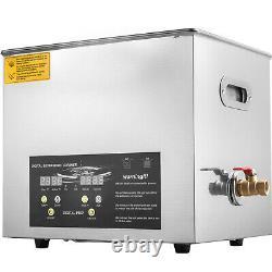 10l 400w Industrie De L'acier Inoxydable Nettoyeur Ultrasonique Chauffant Chauffant Withtimer