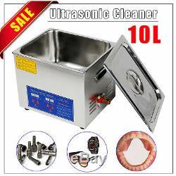 10l Commercial Cleaner Nettoyeur À Ultrasons Numérique Électrique À Ultrasons Avec Minuterie