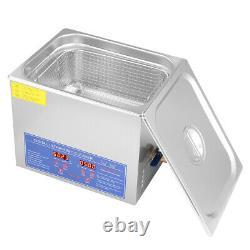 10l Digital Ultrasonic Cleaner Kit Ultra Sonic Bath Timer Nettoyage D'un Pistolet À Bijoux