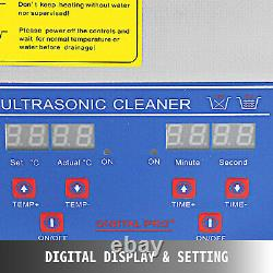 10l Liter Industry Ultrasonic Cleaners Cleaning Equipment Heater Withtimer 240w