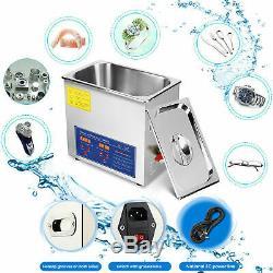 10l Nettoyeur À Ultrasons Équipement De Nettoyage Litres Industrie Chauffée Avec Chauffage Minuterie