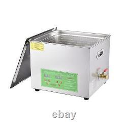 10l Nettoyeur À Ultrasons Numérique Minuterie De Chauffage Ultra Sonique Nettoyage Réservoir Inoxydable Us