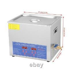 10l Numérique Nettoyeur À Ultrasons Nettoyage Sonic Chauffe-réservoir Minuterie En Acier Inoxydable
