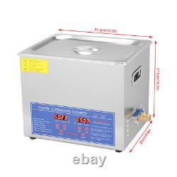 10l Ultrasonic Cleaner Heated Tank Jewelry Gun Cleaning Machine Acier Inoxydable