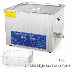 15l Machine De Nettoyage À Ultrasons Numérique Professionnelle Avec Minuterie De Nettoyage Chauffé