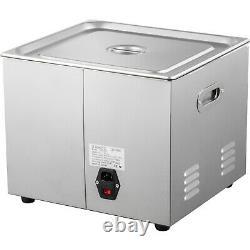 15l Nettoyeur À Ultrasons Chauffe Minuterie 600w 40khz Bijoux Machine De Nettoyage