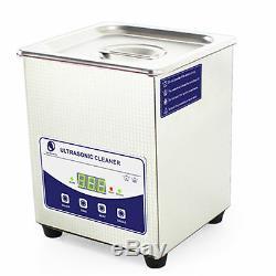 2 Litres, Industrie De L'acier Inoxydable Nettoyeur À Ultrasons Chauffants Chauffe-minuterie