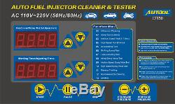 220v Ultrasons Essence Injector Cleaner Testeur De Carburant Machine De Nettoyage De Voitures À Moteur