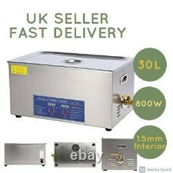 30l Digital Ultrasonic Cleaner Ultra Sonic Cleaning Tank Timer Heater-uk Vendeur