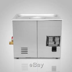 30l Nettoyeur À Ultrasons Équipement De Nettoyage Litres Industrie Chauffée Avec Chauffage Minuterie
