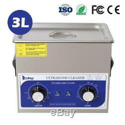 3l En Acier Inoxydable 3 Litres Industrie Chauffe-nettoyeur À Ultrasons Dégivrants Avec Minuterie