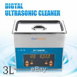 3l Numérique Nettoyeur À Ultrasons Industrie Médicale En Acier Inoxydable Chauffée Minuterie Réservoir
