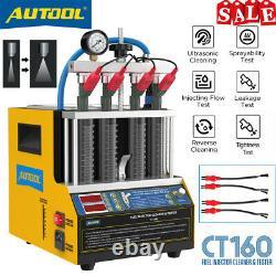 4 Cylindres Moteur De Voiture Nettoyeur À Ultrasons Buse De Carburant Essence Injecteur Testeur Us