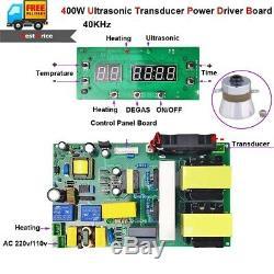 400w 40khz Nettoyage Par Ultrasons Capteur Conducteur À Réglage Électrique + Chauffage Conseil Cleaner