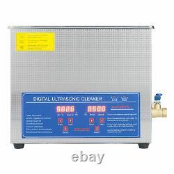 6l 1.6gal Nettoyeur Ultrasonique Numérique Avectimer & Heater Ultrasound Clean Machine