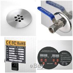 6l Industrie Nettoyeur À Ultrasons Bijoux Vaisselle Machine De Nettoyage Avec Chauffage Minuterie