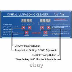 6l Liter Stainless Steel Digital Heated Industrial Ultrasonic Parts Cleaner Tool (en Chinois)