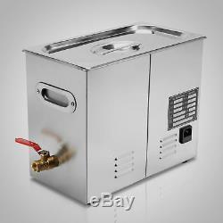6l Nettoyeur À Ultrasons Inoxydable Machine De Bain Réservoir Minuterie Numérique Nettoyage À Chaud