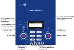6l Nettoyeur À Ultrasons Machine À Laver Industrielle Alimentation Réglable Dr-p60