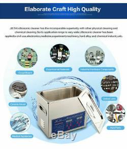 6l Numérique À Ultrasons Sonic Cleaner Bain Propre Inoxydable Réservoir De Haute Qualité