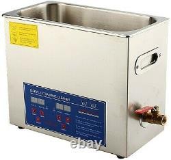 6l Ultrasonic Cleaner Stainless Steel Digital Bath Heater Ultra Sonic Royaume-uni