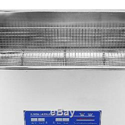 Acier Inoxydable 1080w 22l Litres Industrie Nettoyeur À Ultrasons Chauffants Chauffe-minuterie