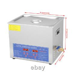 Acier Inoxydable 10l Industrie Chauffante Nettoyeur À Ultrasons Avec Minuterie